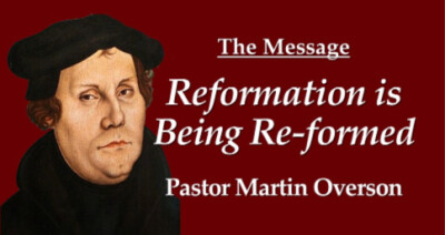 Reformation is being Re-formed